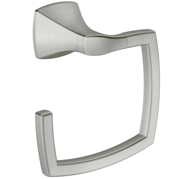 VOSS Brushed Nickel Towel Ring