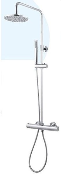 THERMOSTATIC SHOWER MIXER WITH SHOWER COLUMN AND DIVERTER