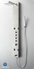 Pavia Stainless Steel (Brushed Silver) Thermostatic Shower Massage Panel