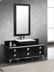 """Fresca Moselle 59"""" Modern Glass Bathroom Vanity w/ Mirror"""