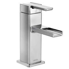 90 Degree Chrome One-Handle Open Waterway Bathroom Faucet