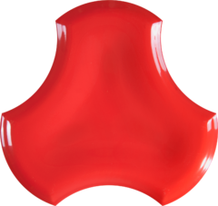 BOUQUET CERAMIC POP 3 D RED
