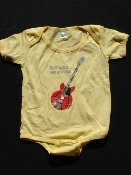 Yellow Onesie, size 18-24months, guitar from Woodstock '69