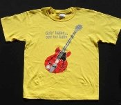 yellow child/youth T shirt, Alvin Lee Red Guitar from Woodstock