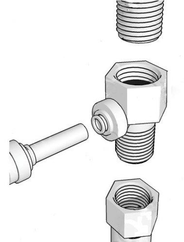 """NEW! DESIGNER FAUCET INSTALLATION KIT FOR 1/4"""" TUBING"""