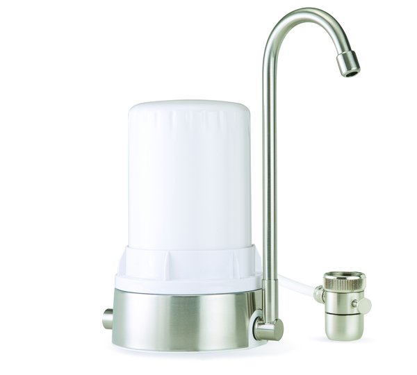 AYRO HT - Countertop Water Filter - White Brushed Stainless