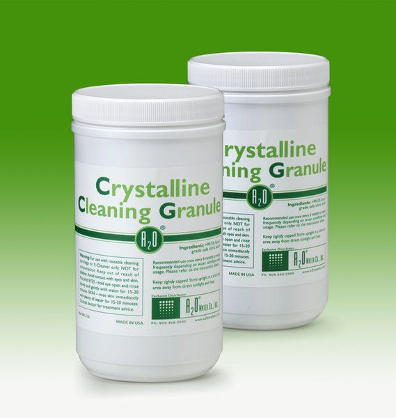 Crystalline Cleaning Granule - DUO PACK (2-Pack, 2lbs. each) - For use with reusable cleaning cartridge or E-Cleaner only.