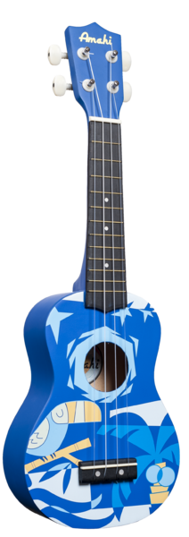Blue Bird Design Soprano Size Painted Wood Body Open