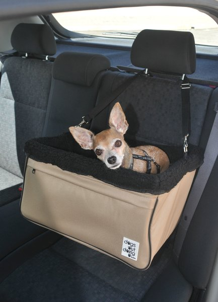 large beige dogs out doing car booster seat black lining dog car booster seats. Black Bedroom Furniture Sets. Home Design Ideas