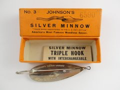"Johnson Silver Minnow NEW BOX WITH CLEAN PAPERS 3"" Model"