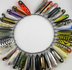 Heddon Salesman Sample Ring of Baby Torpedos MOST SPECIAL COLORS! VERY RARE!!!
