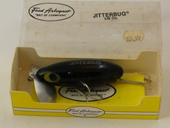 Fred Arbogast Jitterbug in BLACK NIB with PAPERWORK