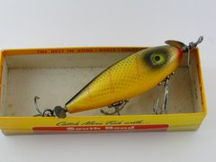 South Bend Surf Oreno 963 YELLOW PERCH YP Finish Pressed Eye Wood Fishing Lure NEW IN BOX