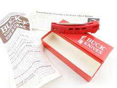 Buck Knife Model 425 RD MiniBuck Red Lockback Knife NEW OLD STOCK with Papers