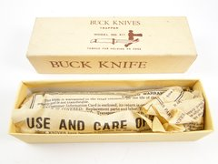 Buck Trapper Knife Model 311 New Old Stock in Box + Paper Work
