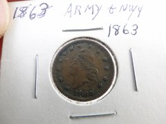 Army & Navy 1863 Coin Early American Currency