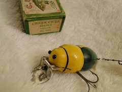 Creek Chub 3850 Beetle EX+ in the Correct End Label Box