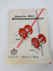 "Garcia ABU Ambassadeur ""Fit for a King"" 5000 & 6000 reel pamphlet"