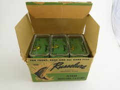 Russelure Fly Rod Fishing Lures Dealer 6 pack box NEW OLD STOCK