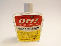 "OFF Glass Bottle of Orginal Bug Repellant ""KEEPS BUGS AWAY"""