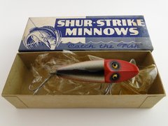 Shur Strike River Runt in RED HEAD SHINER SCALE with Blue Box. TOUGH and NEW!!!