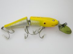Creek Chub 2637 DD in YELLOW FLASH EX+ Jointed Deep Dive Pikie Fishing Lure