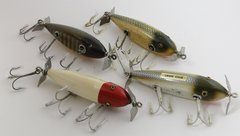 GROUP of 4 Wood Creek Chub INJURED MINNOW Fishing Lures