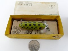 Fred Arbogast Jitterbug in Box with Papers