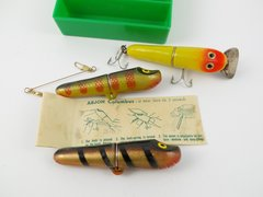 "ARJON Sweden Reel Manufacturer INTERCHANGEABLE ""ARJON COLUMBUS"" LURE KIT NICE!! UNUSED!!"