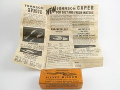 """Johnson Silver Minnow NICE BOX & PAPERS... SMALL 1"""" Model"""