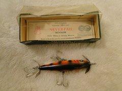 Pflueger 3193 3 Hook Neverfail Under Water Bulldog Minnow New in the Box