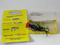 Fred Arbogast HULA POPPER 1/4 oz. Coachdog NEW in BOX + PAPERS