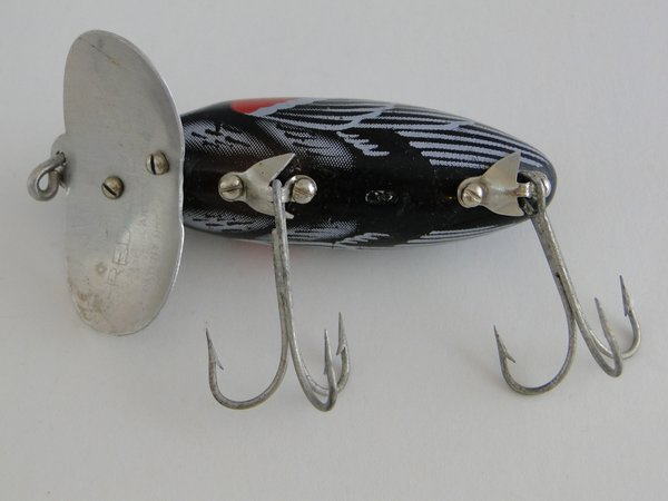 Fred arbogast jitterbug redwing blackbird old antique for Jitterbug fishing lure