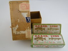 Creek Chub Duo In Original Shipping Box 1950 Injured Minnow & Baby Jointed Pikie NEW IN BOXES