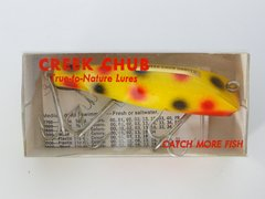 Creek Chub Darter with Concave Belly NEW IN BOX Yellow Spot