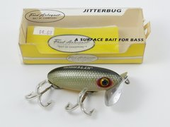 Fred Arbogast Jitterbug Fishing Lure in Box + Pocket Catalog