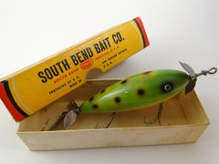 South Bend Surf Oreno 963 FROG F Finish Tack Eye Wood Fishing Lure NEW IN BOX