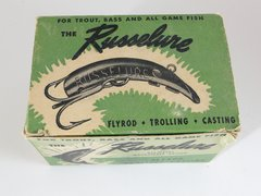Russelure Fly Rod Fishing Lures Dealer 6 pack box 5 lures Total NEW OLD STOCK