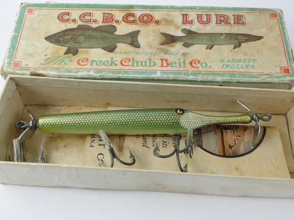 Creek chub gar old antique vintage wood fishing lures for Old fishing lures for sale