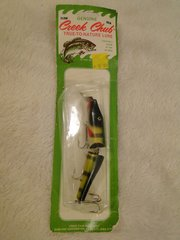 Creek Chub 2600 P Jointed Pikie Minnow in Perch New Old Stock Plastic