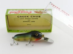 Creek Chub Deepster NEW OLD STOCK IN BOX 9601 Perch Scale Finish