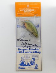 Tennessee Shad Fishing Lure New in Package Autographed by retired NFL Linebacker Lonnie Warwick #59