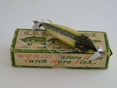 Creek Chub 1518 Injured Minnow EX+ in Silver Flash + Label Box