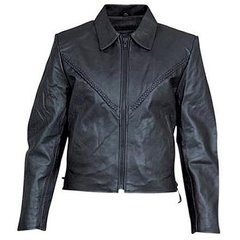 AL2102-Womens Braided Leather Jacket
