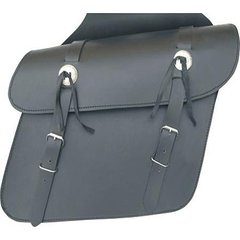 AL3600-Plain Leather Throw Over Saddlebag