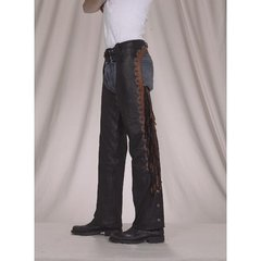 Brown and Black Fringed Chaps