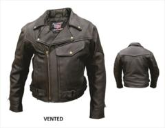 Men's Naked Leather Pistol Pete Motorcycle Jacket