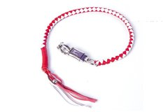Red & White Get Back Whip For Motorcycles