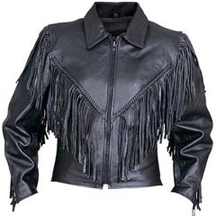 AL2155-Womens Fringe Motorcycle Jacket