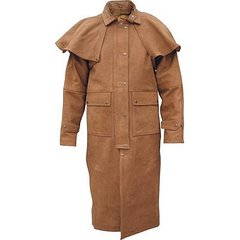 Men's Brown Buffalo Leather Duster